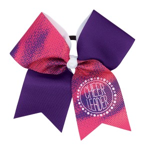 Watercolor Cheerleader Bow