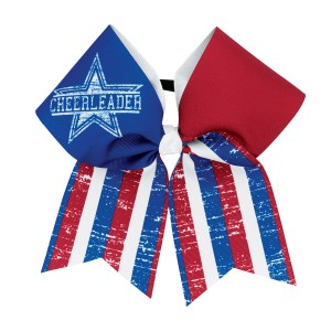 Stars & Stripes Cheerleader Bow