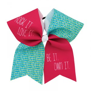 Extra Large Be It Own It CHEER Statement Bow