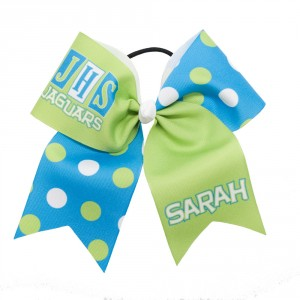 Extra Large Custom Retro Team Name and Initials Bow