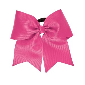 "Extra Large 3"" Hot Pink Grosgrain Bow with V-Cut Tails"