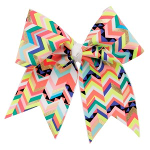 "3"" Extra Large Multi-Color Chevron Print Bow"