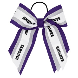 Large Triple Layer Bow with Mascot Ribbon