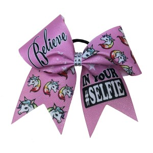 Extra Large Shimmer Believe In Your Selfie Bow