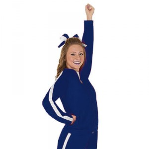 Navy Blue Rival Warmup Jacket by CC SpiritWear