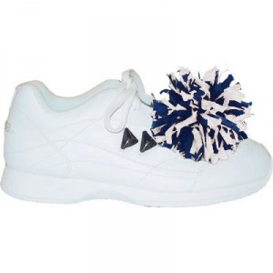 In Stock Pair of Two Color Mix Shoe Poms