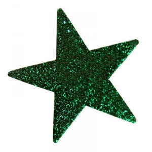 Razzle Dazzle Pre-Glittered Small Star Face Stickers