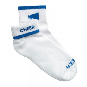 "Megaphone/Cheer ""Flip Top"" Socks"