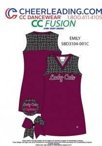 CC Fusion Emily Mesh Jersey Spirit Dress with Patterned Yoke (57E 2019)