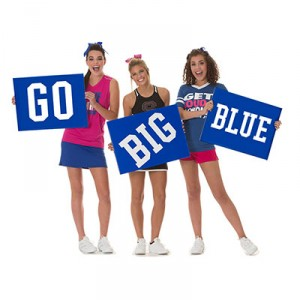 Set of 3 - Custom Pep Rally Signs Printed on One Side- 18 in. x 24 in.