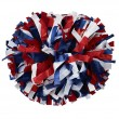 "6"" Plastic 3 Color Baton Handle Cheerleading Pom Pom"