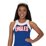 Stock Round Neck Racerback Cheer Uniform Shell Top