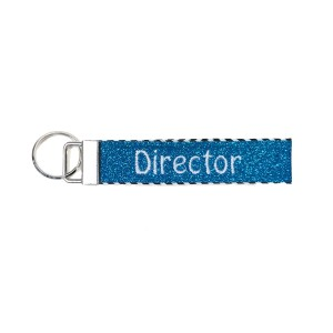 In-Stock Glitter Director Key Fob