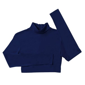Poly/Spandex Mock Turtleneck Half Top