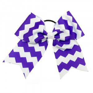 Extra Large 2 Color Chevron Cheer Bow