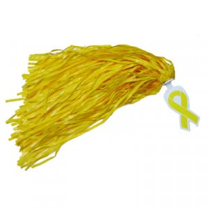 Awareness Ribbon Handle Rooter Poms
