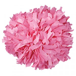 "6"" Plastic Solid Baton Handle Cheerleading Pom Pom"