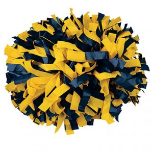 "6"" Plastic 2 Color Baton Handle Cheerleading Pom Pom"