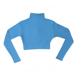 Nylon Mock Turtle Neck Half Top